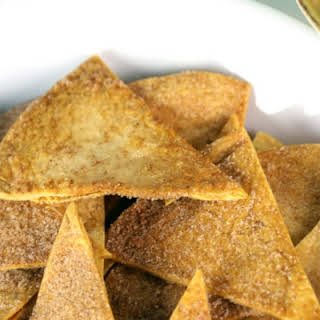 Cinnamon Tortilla Chips with Strawberry Salsa.