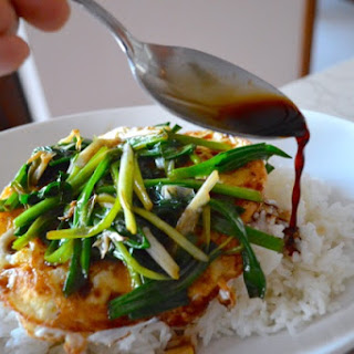EGGS OVER EASY WITH SOY SAUCE