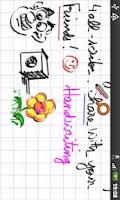 Screenshot of handwriting 4all-scribe