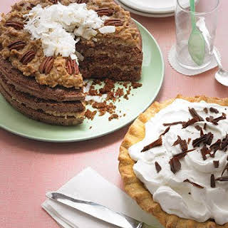 Chocolate Cake with Coconut-Pecan Frosting.