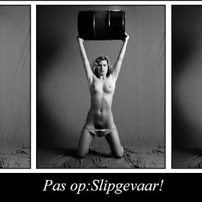 Slipgevaar ! by Etienne Chalmet - Typography Captioned Photos ( erotic, girls, sexy, outdoors, humor, beauty,  )