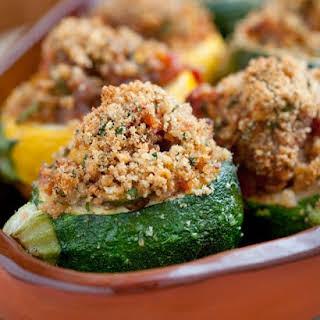 Provencal-Style Stuffed Zucchini.