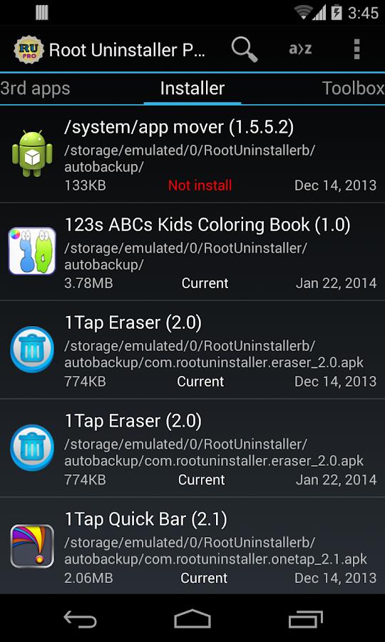 Root Uninstaller Pro - screenshot