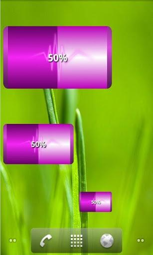 Girls Pink Battery Widget