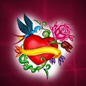Tattoo Heart Art theme 480×800 logo