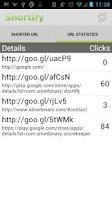 Screenshot of Shortify! Goo.gl URL Shortener