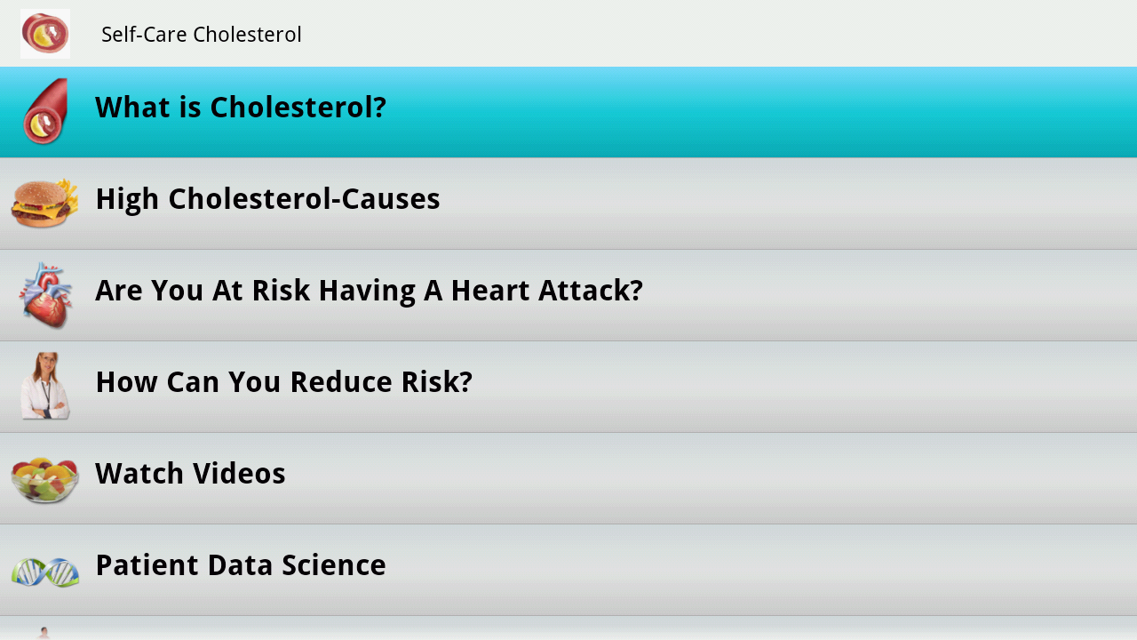 Cholesterol Guide- screenshot