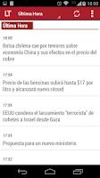 Screenshot of La Tercera