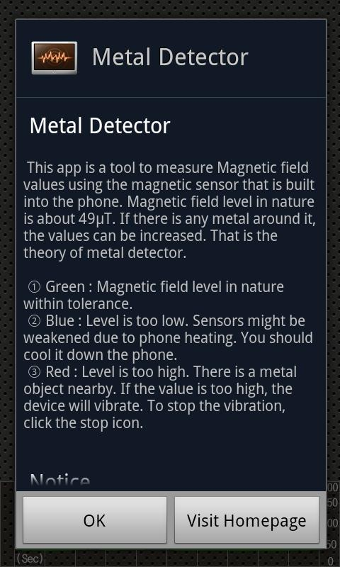 Metal Detector - screenshot