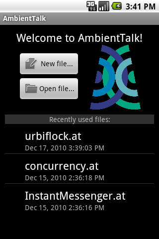 AmbientTalk Interpreter - screenshot