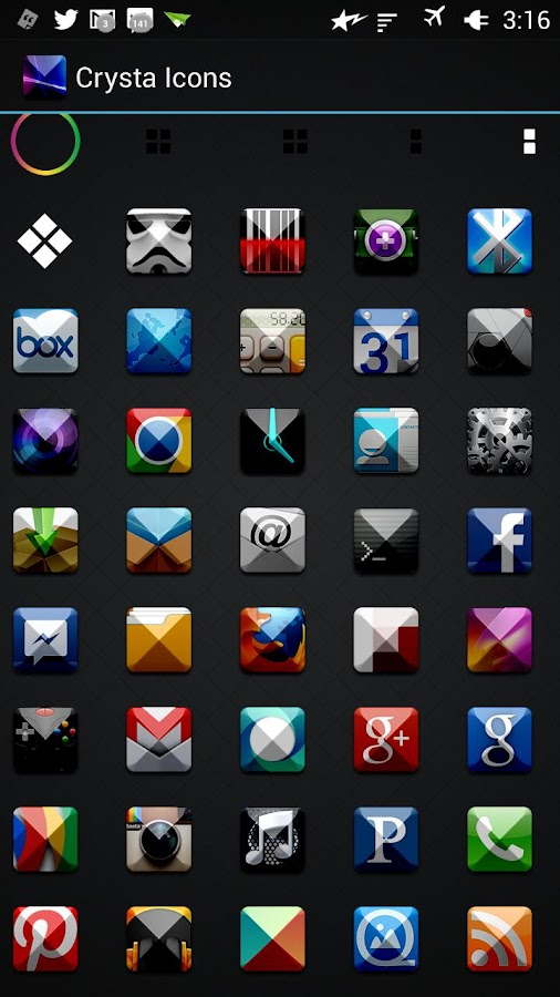 Crysta Icons- screenshot