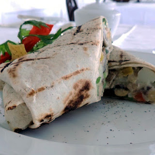 Chick Pea Wrap with Cashew Paste.