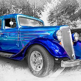 Shiney! by RomanDA Photography - Transportation Automobiles ( pencil, car, shiney, old, selective, color, edit, auto, classic )
