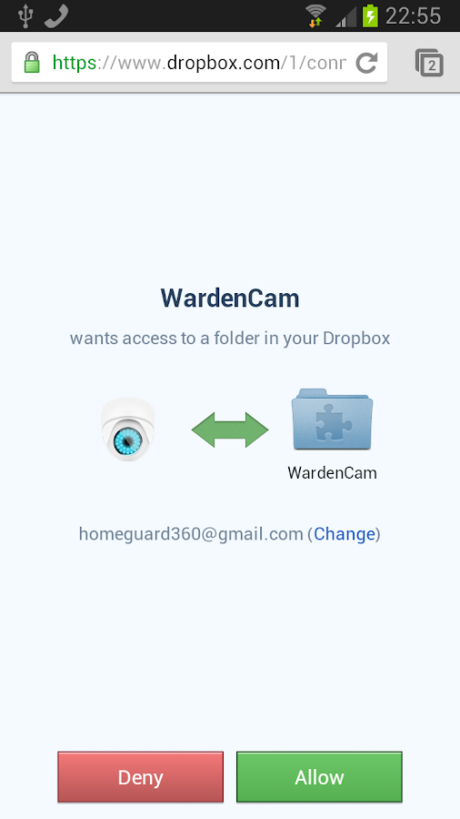 WardenCam Home Security Camera - screenshot
