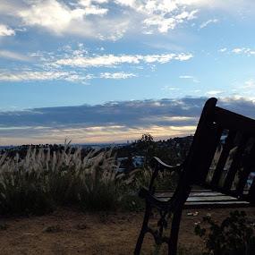 Broken bench. by Paul Stanley - Instagram & Mobile Instagram ( hollywood, sunset, nofilter,  )