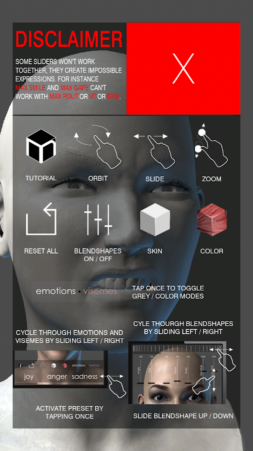 MARA3D Facial Expressions Lite - screenshot