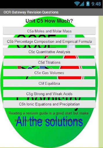 OCR GCSE Chemistry C5