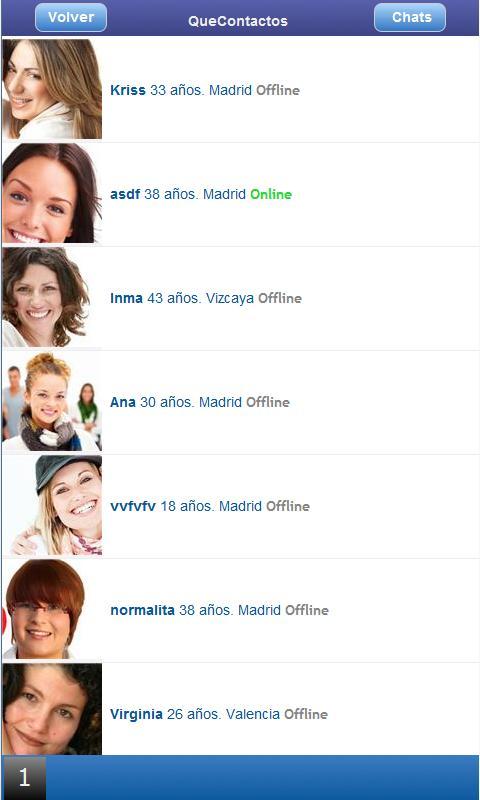 QueContactos Dating in Spanish - screenshot