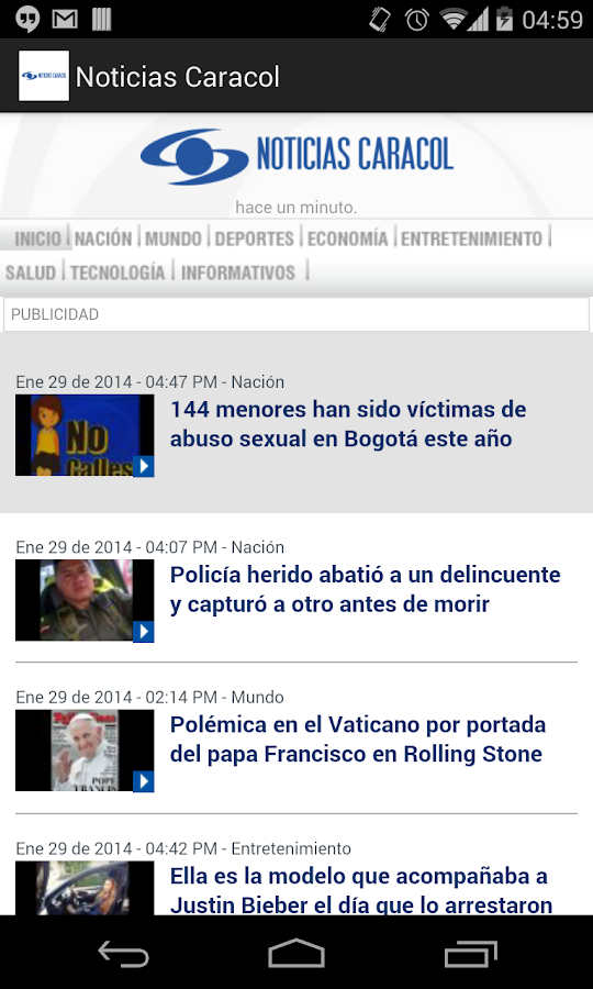 Noticias Caracol - screenshot