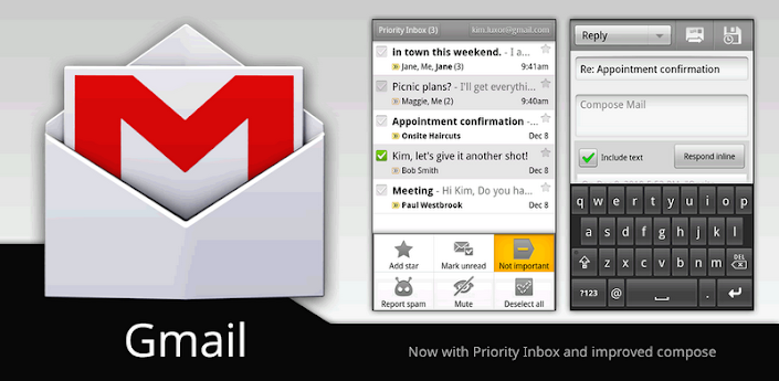 Gmail APK v4.1.2 hd Free 4shared Mediafire Download Android