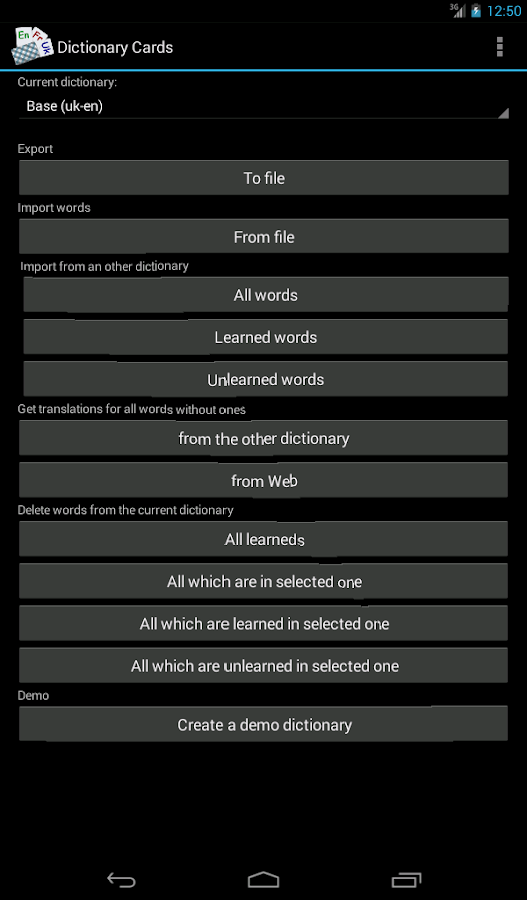 Dictionary Cards- screenshot