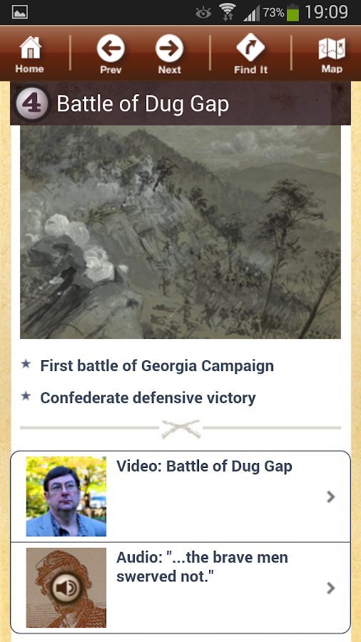 Atlanta Campaign Battle App - screenshot