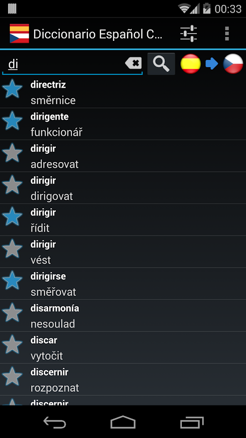 Offline Spanish Czech Dict.- screenshot