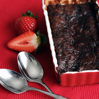 Warm Raspberry-Chocolate Pudding Cake