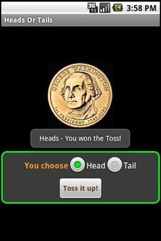 Heads or Tails - screenshot