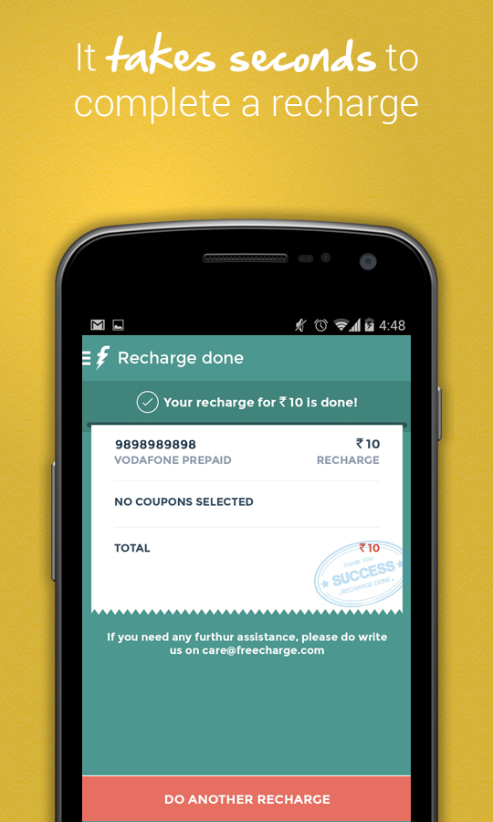 FreeCharge - Mobile Recharge - screenshot