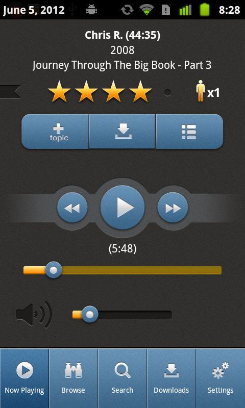 12 Steps Speakers- screenshot