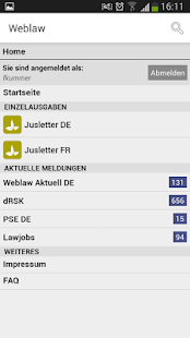Weblaw – Miniaturansicht des Screenshots