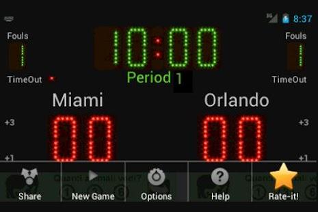 Scoreboard Basket ++- screenshot thumbnail