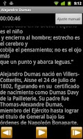 Screenshot of Biografía de Alejandro Dumas