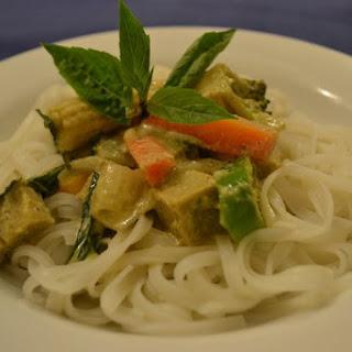 Vegetarian Thai green curry.