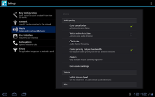 Screenshot of CSipSimple