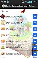 Screenshot of Kinder Geschichten zum Zuhören