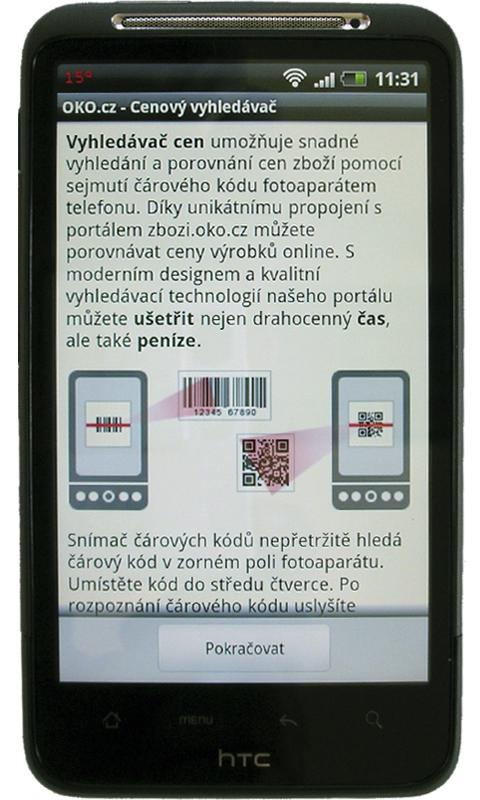 Cenový vyhledávač - OKO.cz - screenshot