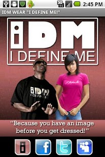 "IDM WEAR  ""I DEFINE ME!""- screenshot thumbnail"