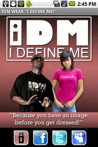 "IDM WEAR  ""I DEFINE ME!""- screenshot"