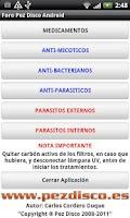 Screenshot of Guía Enfermedades Pez Disco