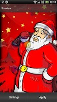 Screenshot of Santa Live Wallpaper