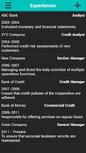 professional resume generator screenshot thumbnail