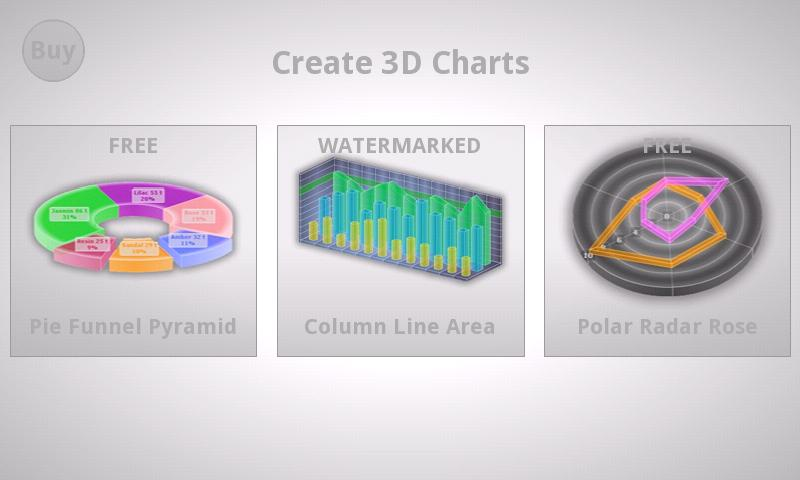 3D Charts - screenshot