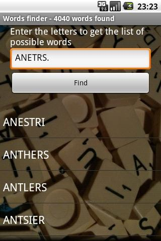 Scrabble Words Finder- screenshot