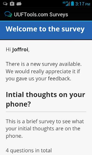 UUF Survey