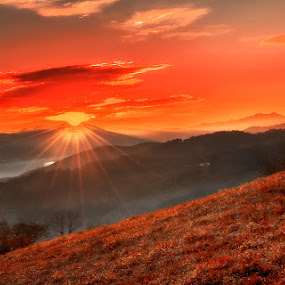Mountains sunrise by Geanina Boureanu - Landscapes Sunsets & Sunrises