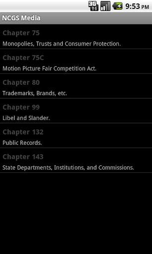 NC General Statutes - Media