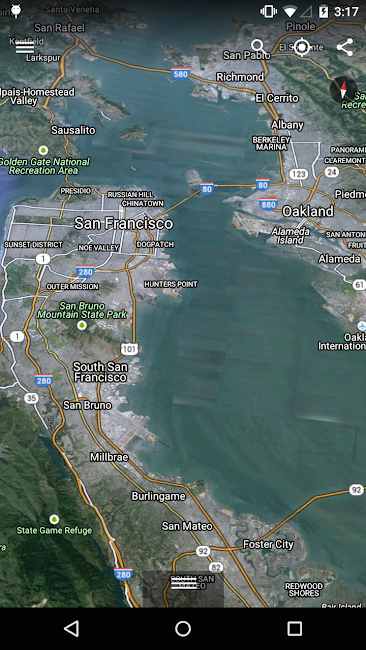 #2. Google Earth (Android)