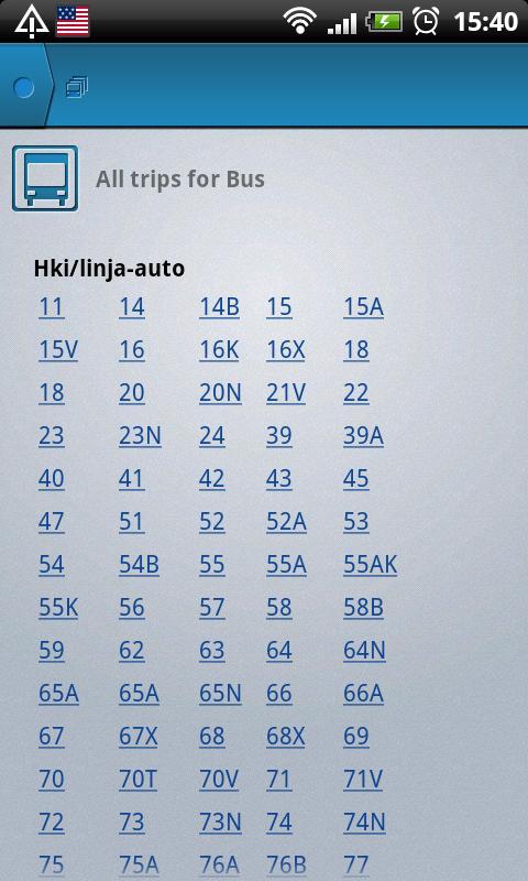 Helsinki Timetables- screenshot
